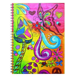 cuaderno psicodélico maravilloso del amor de la