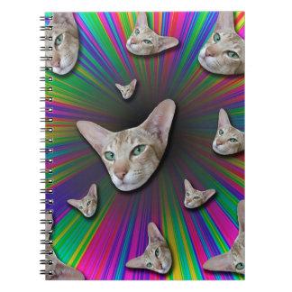 Cuaderno Psychedelic Tye Die Cat