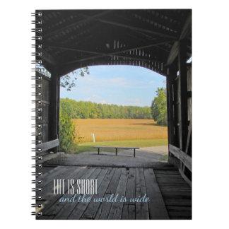Cuaderno Puente cubierto de Indiana