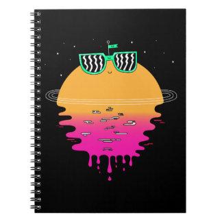Cuaderno puesta del sol feliz