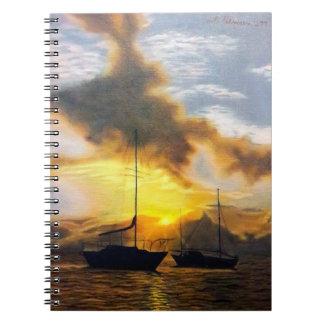 Cuaderno Puesta del sol hermosa