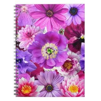 Cuaderno Purple flowers