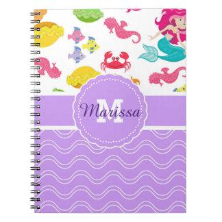 Cuaderno púrpura de la sirena