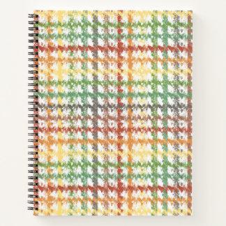 Cuaderno Rasguño del arco iris del otoño