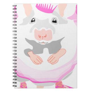 Cuaderno ratón de la bailarina