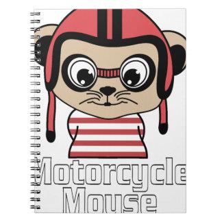 Cuaderno Ratón de la motocicleta, diseño del vintage del