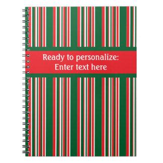 Cuaderno Rayas del navidad