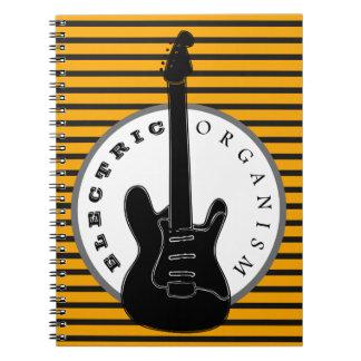 Cuaderno Rayas eléctricas de la música de punk rock de la