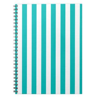 Cuaderno Rayas verticales de la aguamarina