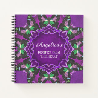 Cuaderno Receta manchada púrpura de Swallowtail