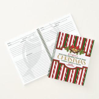 Cuaderno Receta personalizada del navidad
