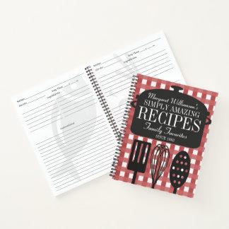 Cuaderno Receta personalizada vintage moderno