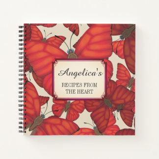 Cuaderno Receta roja sangre de la mariposa 2 del planeador