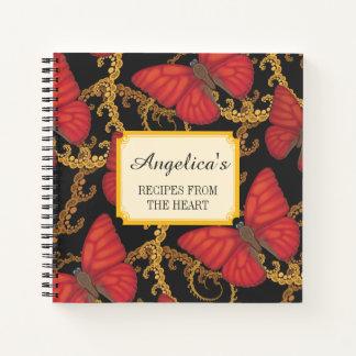 Cuaderno Receta roja sangre de la mariposa del planeador