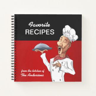 Cuaderno Recetas del favorito del cocinero del canto