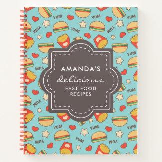 Cuaderno Recetas deliciosas de los alimentos de preparación