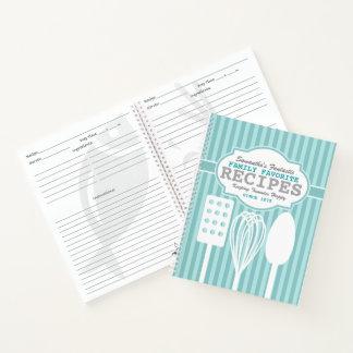 Cuaderno Recetas retras de moda personalizadas