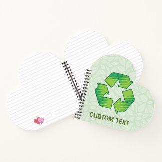 Cuaderno Reciclaje de símbolo