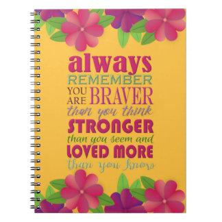Cuaderno Recuerde siempre que usted es - espiral