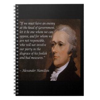 """Cuaderno Regalo del """"líder enemigo"""" de Alexander Hamilton"""