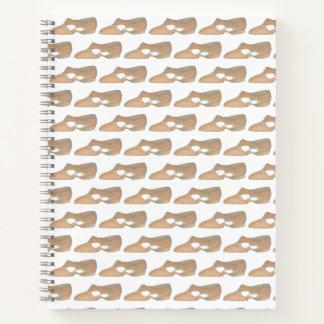 Cuaderno Regalo personalizado zapato lírico del profesor de