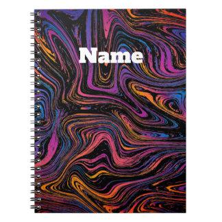 Cuaderno Remolino actual psicodélico