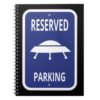 Cuaderno reservado del estacionamiento