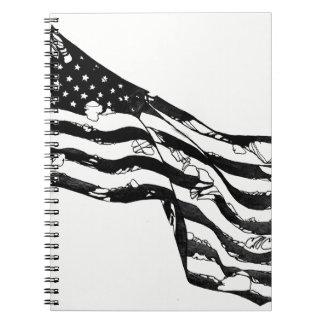 Cuaderno resistido de la bandera americana