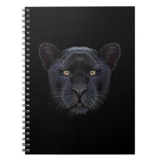 Cuaderno Retrato ilustrado de la pantera negra