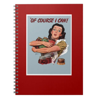 Cuaderno retro del abastecedor de la mujer