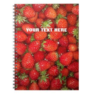 Cuaderno rojo de encargo del diario de la comida