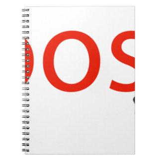 Cuaderno ropa del logotipo de la marca del boosh
