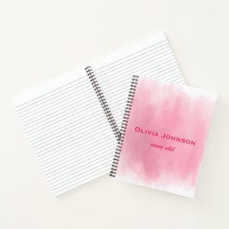 Cuaderno Rosa de la acuarela del artista de maquillaje
