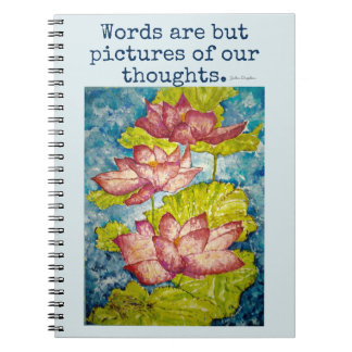 Cuaderno rosado del arte de la acuarela de Lotus