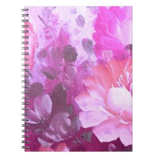 Cuaderno rosado del arte de la acuarela del