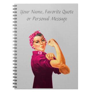 Cuaderno Rosie el remachador - rosa del cáncer