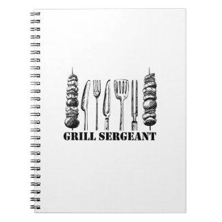 Cuaderno Sargento BBQ de la parrilla que asa a la parrilla