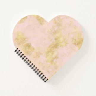 Cuaderno Se ruboriza el Grunge rosado del oro