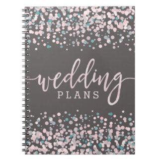 Cuaderno Se ruboriza el planificador rosado del boda del
