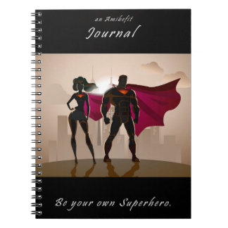 Cuaderno Sea su propio super héroe - un diario de Amibefit