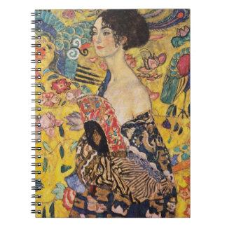 Cuaderno Señora de Klimt con bella arte de la fan