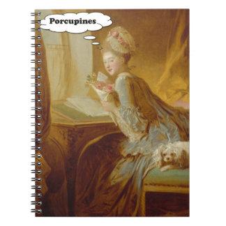 Cuaderno Señora elegante Thinks About Porcupines
