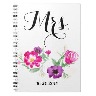 Cuaderno Señora Watercolor Flowers Notebook