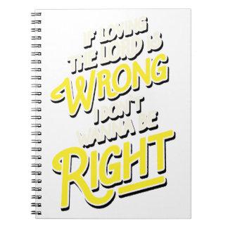 Cuaderno Si el amor del señor es mal yo no quiera ser