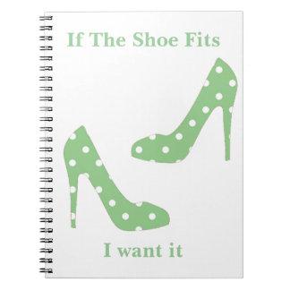 Cuaderno Si los ajustes del zapato yo lo quieren