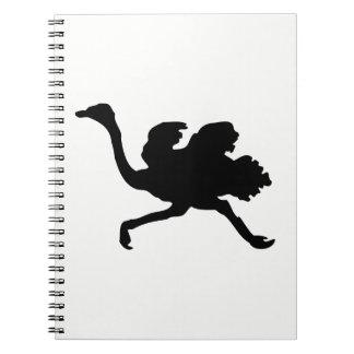 Cuaderno Silueta de la avestruz