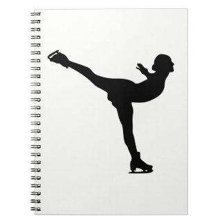 Cuaderno Silueta de la mujer del patinaje de hielo