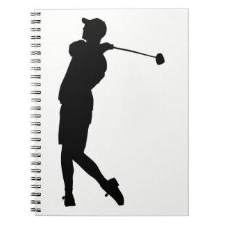 Cuaderno Silueta del golfista