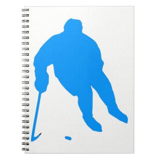 Cuaderno Silueta del hockey