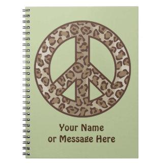 Cuaderno Símbolo de paz del leopardo